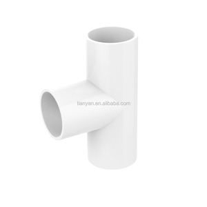 Good Quality Export Products No Poison PVC Plastic Insulating Electrical Conduit Tee Fittings