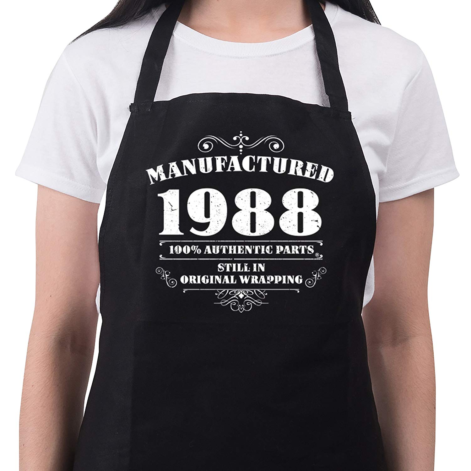 Womens 30th Birthday Gift Apron Manufactured 1988 Aprons Gifts