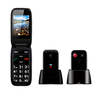 New Arrival 2.4 inch GSM MTK6261D Quad Band Flip Phone Unlocked Cell Phone M16C