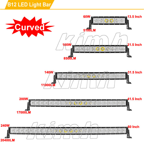 China Supplier Auto Part JK Wrangler Jeep Off Road LED Light Bar