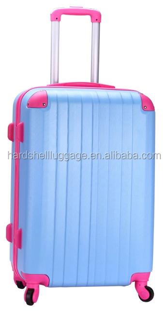 High quality castel trolley custom design airport bags 20/24 inch abs luggage