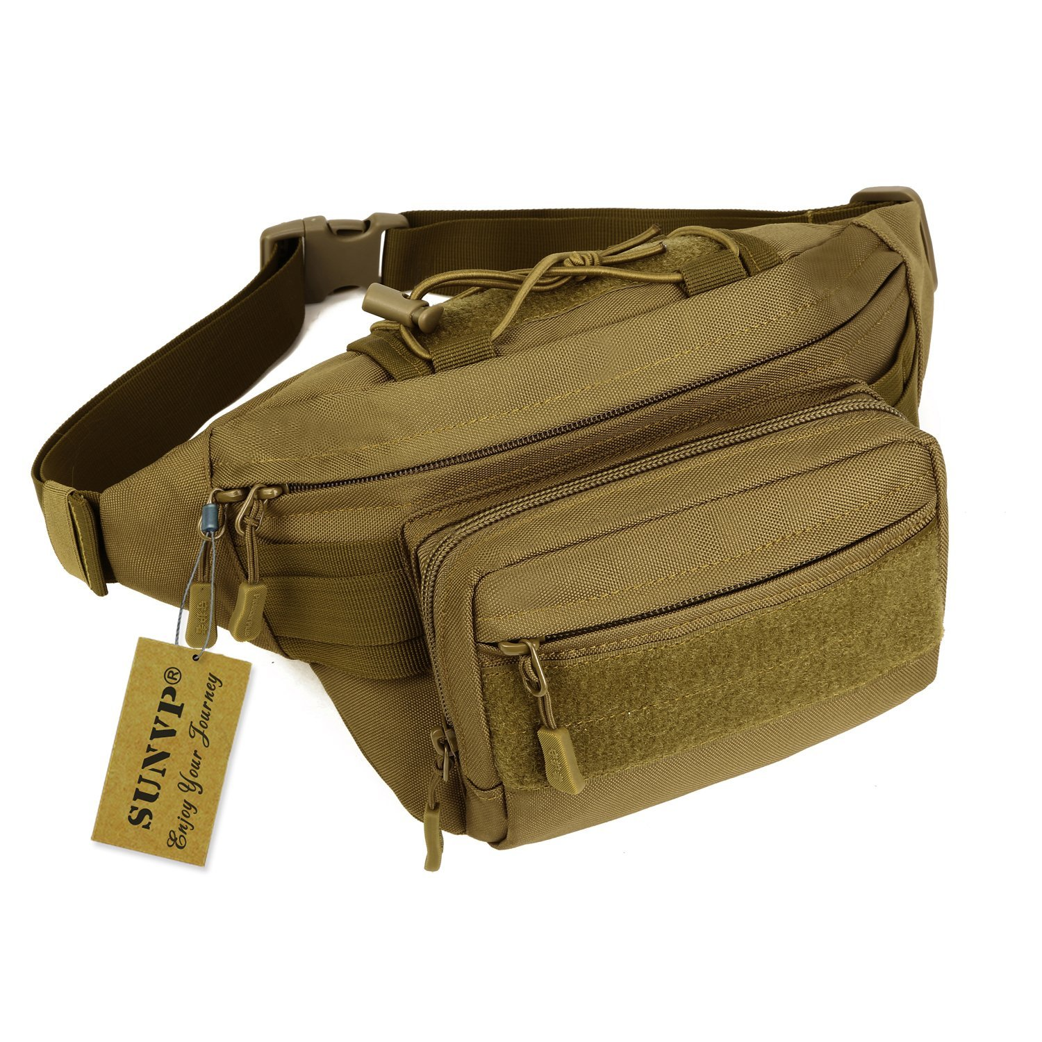 Huntvp Military Fanny Pack Tactical Waist Bag Pack Water-Resistant Hip Belt Bag Pouch Hiking Climbing Outdoor Bumbag