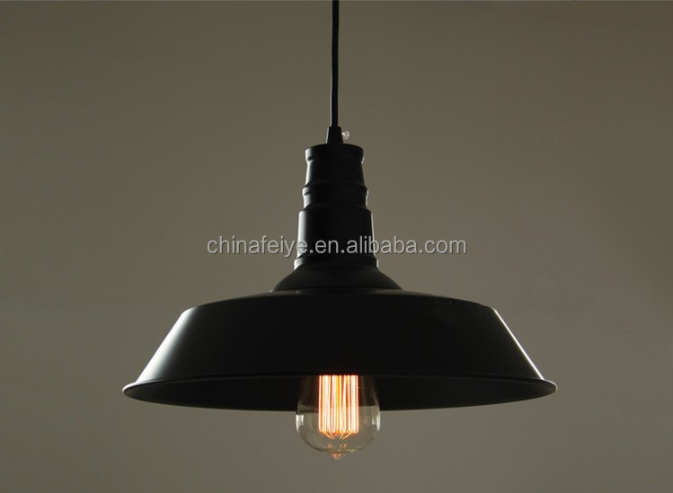 Lampada Vintage Industriale : Filamento metallico ciondolo in metallo paralume industriale lampada