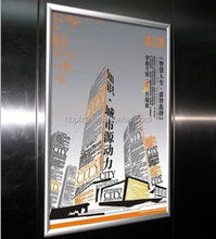 Aluminum snap frame clip open poster frame for elevator advertising