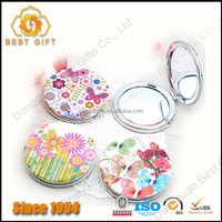 Wholesale Cheap Promotional Gift PU Pocket Mirrors