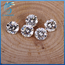 Wholesale forever brilliant moissanite 6.5mm 1ct(carat) hearts arrows cut light yellow moissanite