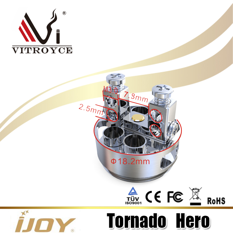 2017 Chinese wholesale suppliers new products vaporizer Tornado Hero, IJOY Tornado Hero subohm & RTA Tank
