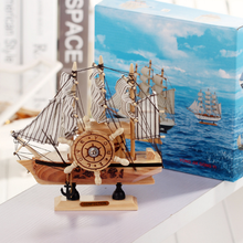 Mediterranean Style Music Sailing Boat Wooden Ship Models Kits