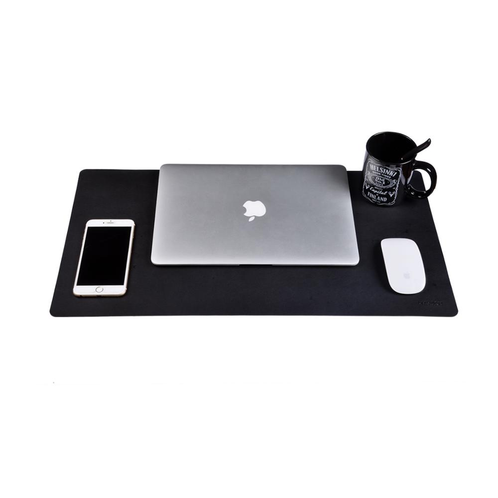 Black with Waterproof and Comfortable Writing Surface Soyan PU Leather Desk Pad for Office//Home 31.5x15.7