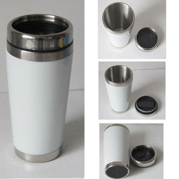 16oz stainless steel ceramic travel mug without handle