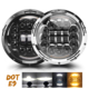Wholesale Auto Lighting System 12V/24V Hi/Low Beam Dual Color Offroad Round 7 Inch Led Headlight