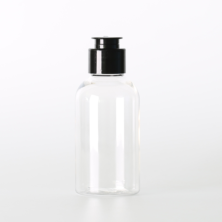 Gratis sample black flip top cap 70 ml plastic huisdier boston lotion fles