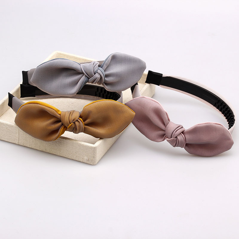 2018 latest Bunny ears bow hairband Korean style fashion bowknot kids <strong>hair</strong> <strong>accessories</strong>