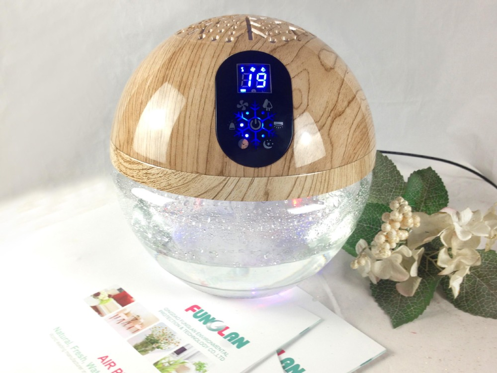 Charming Household Office Water Air Purifier Led Light Globe Wood Freshener  Fragrance Oil Water Based Electric Air Gallery