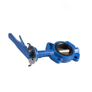 Cast iron 4 inch bare shaft handle butterfly valve wafer type