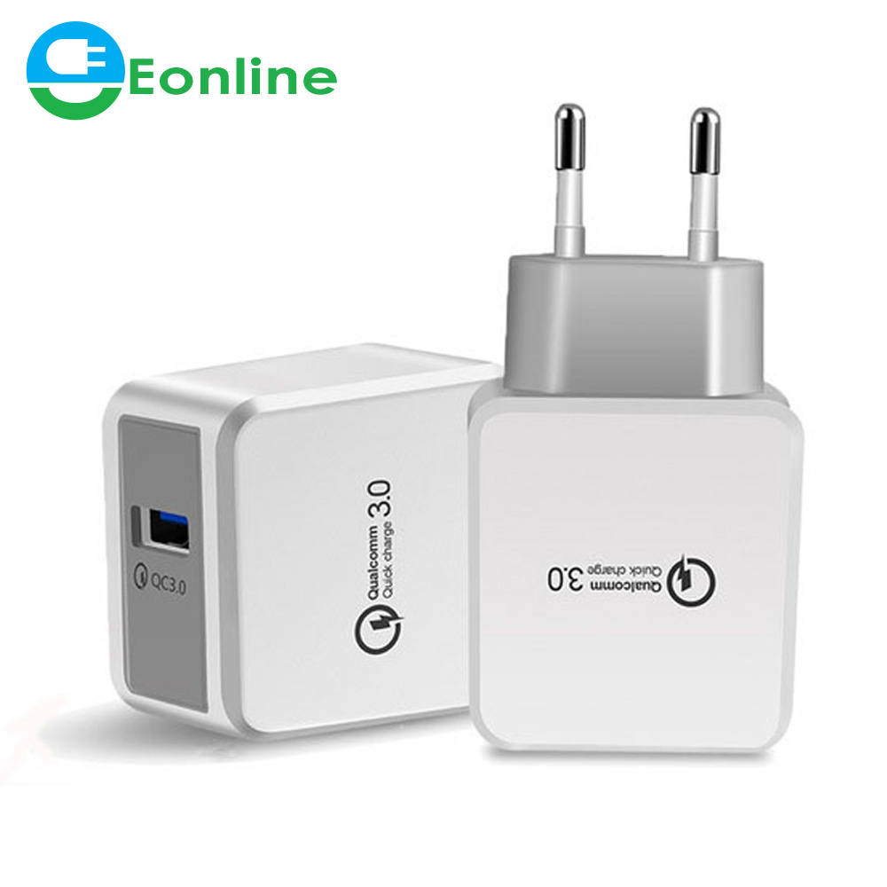 EU US UK 18W Quick Charge 3.0 USB Charger Fast Charging Multi Charger for Samsung S10 Xiaomi Mi9 iPhone X Wall Phone Charger