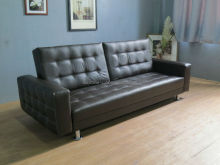 Leather Folding Rome Sofa Bed With Arms