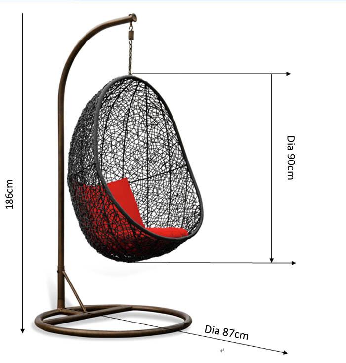 Crisantemo rat n huevo silla colgante buy product on for Silla huevo colgante