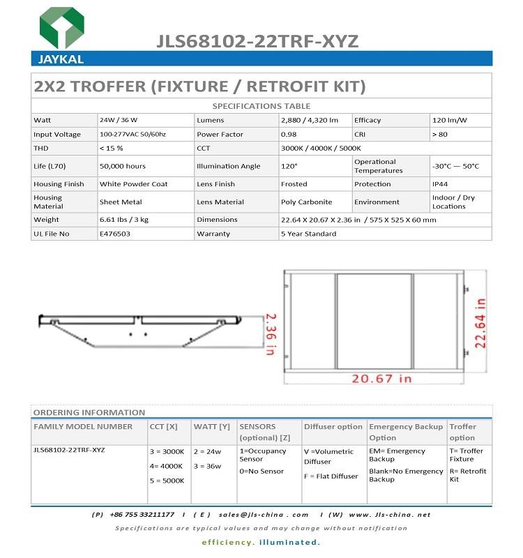 Ul Cul Dlc List Troffer Fixture / 2x2 2x4 Led Troffer Light Panel ...