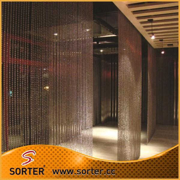 Home &garden Home Decor Metal Bead Curtain Room Divider Screen ...
