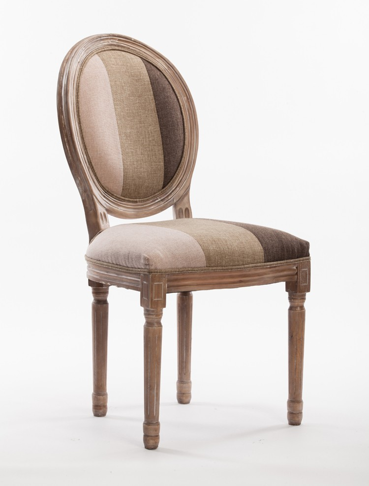french style wooden frame single royal chair with soft