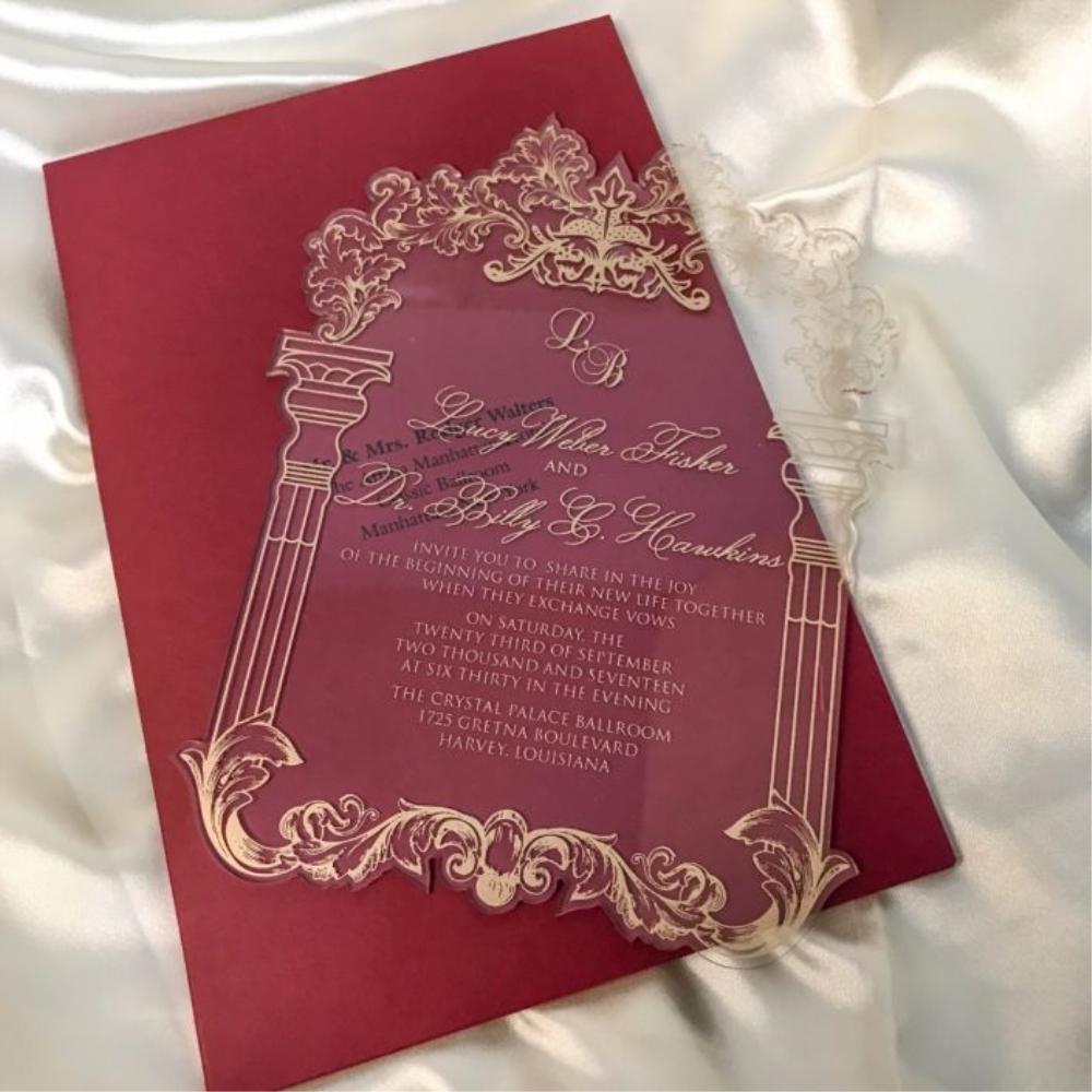 Royal High Quality Fancy Customized Acrylic Wedding Invitations ...