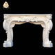 Mental classical white indoor usage marble fireplace NTMFI-113Y