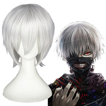 Wholesale 32cm Short White Japanese Anime Tokyo Ghoul Kaneki Ken Cosplay Hair Mask Costsume Sets Buy Tokyo Ghoul Cosplay Japanese Anime Cosplay Kaneki Ken Cosplay Product On Alibaba Com