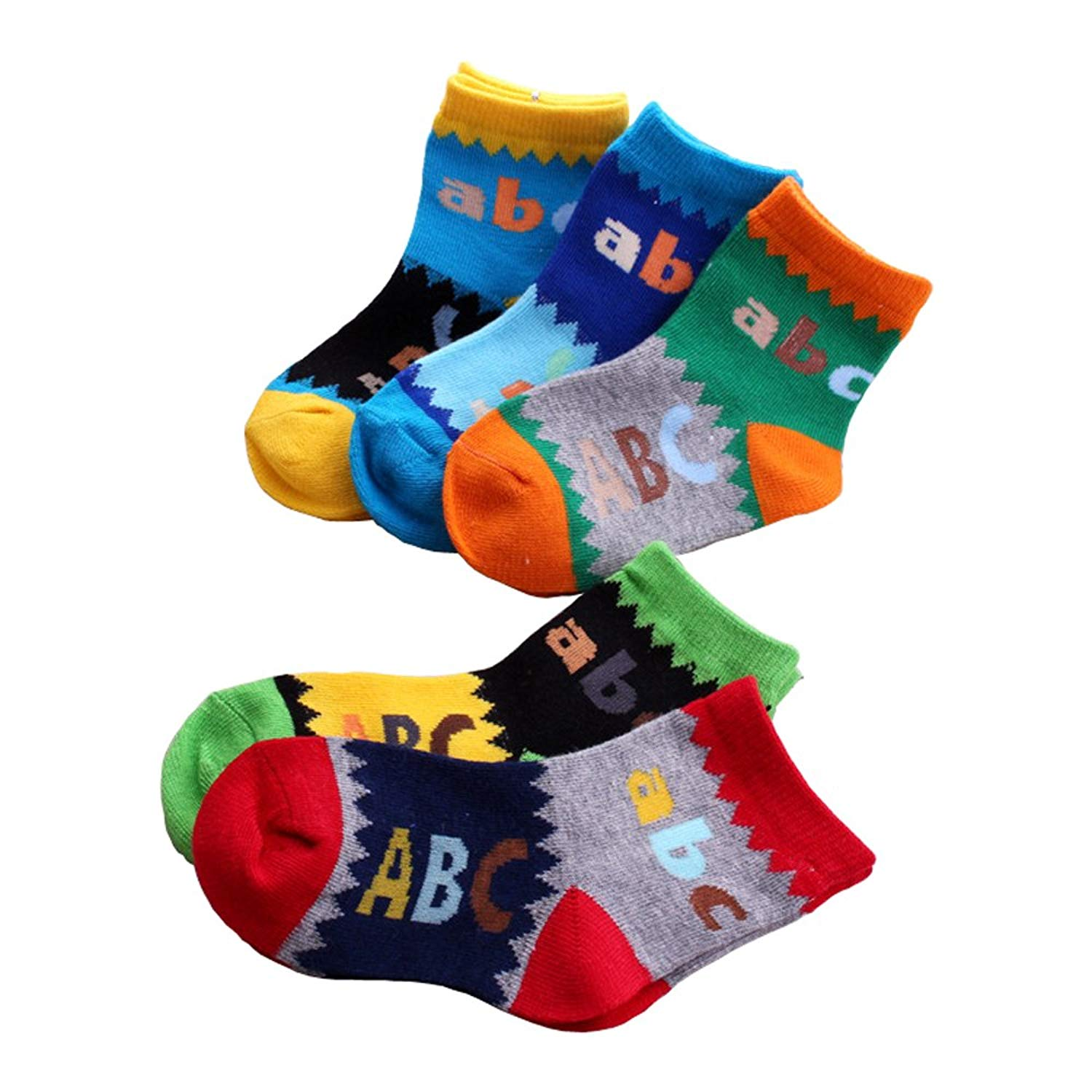 bf87fa4a85bc Get Quotations · MIUSIE Baby Boys/Girls Socks Bright Colored Combed cotton  socks Anti-skid Socks (