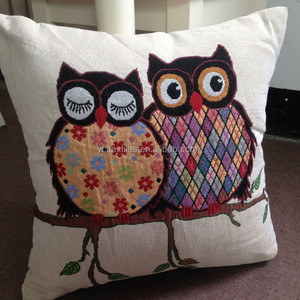 Decorative Owl Printed Throw Cushion Cover Pillow Case for Couch
