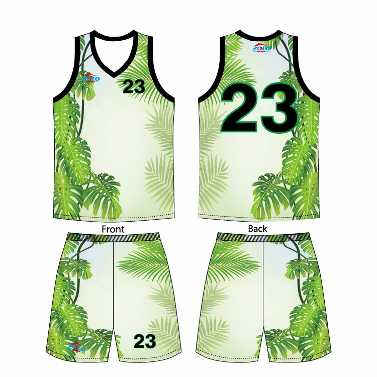 2017 new design sublimation customized girls' basketball jersey design