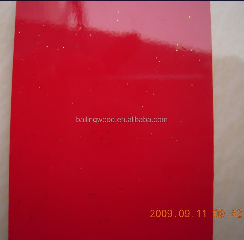 18mm Red Color UV Painting MDF