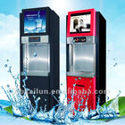 Card operated with LCD advertising players Commercial RO water purifier dispenser/Water vending Machine