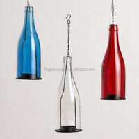 glass bottle TEALIGHT LANTERNS SET OF 3