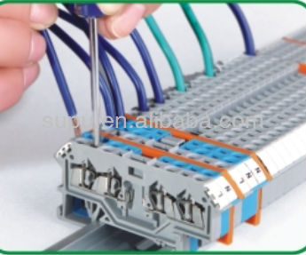 WAGO spring cage clamp din rail mounted terminal block connectors