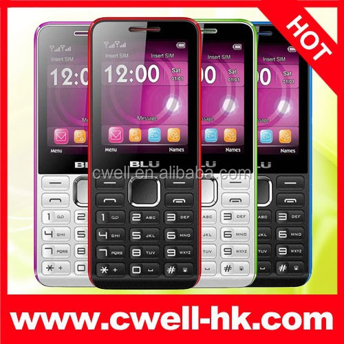 BLU Tank II T192 Dual SIM Card 2.4 Inch Screen Quad Band 1900mAh Battery Low Price GSM Mobile Phone Blu Cell Phone