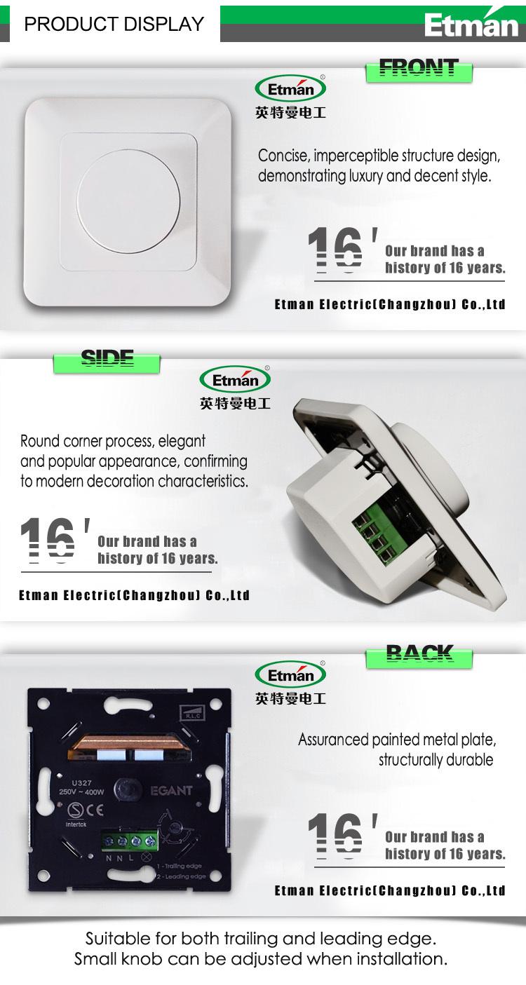 Modern Design Etman Dimmer Switch,Led Spot Light Dimmer