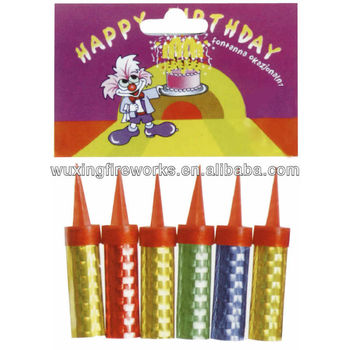 6cm Birthday Cake Candle Ice Fountain Sparklers
