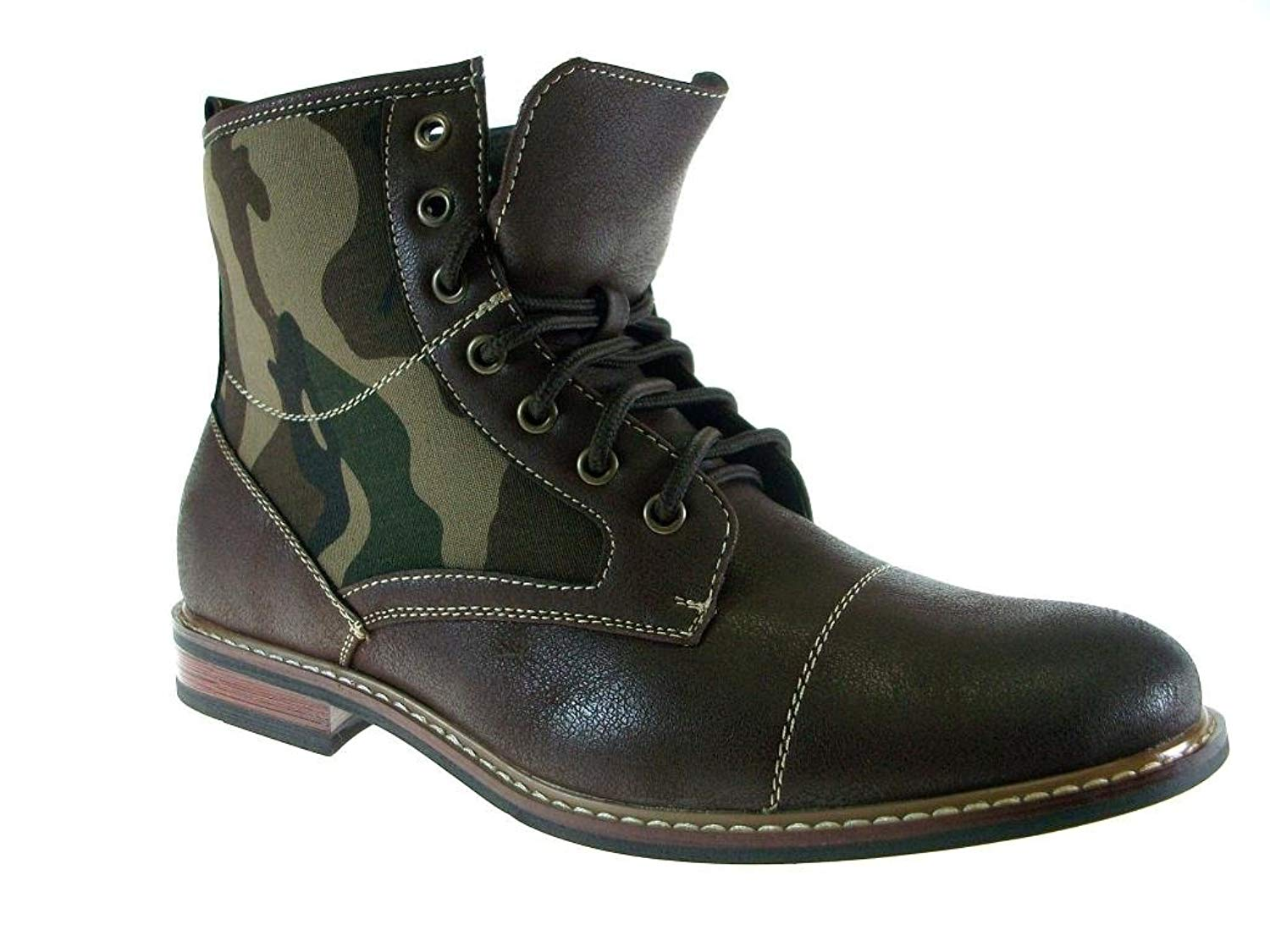 f178610bd36e Get Quotations · Ferro Aldo Men s 808562A Camouflage Print Military Style  Combat Dress Boots