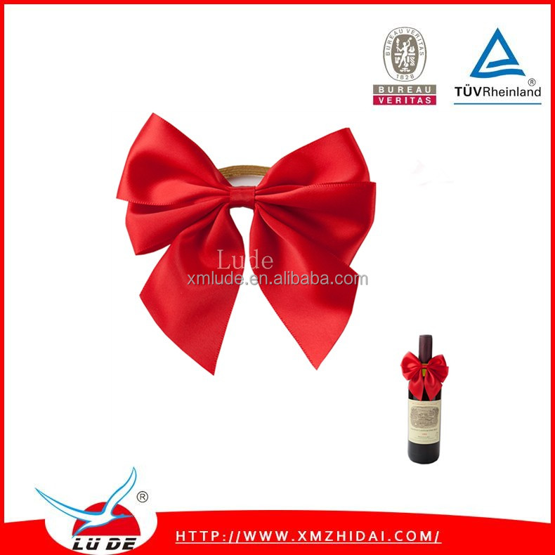 2016 100% Polyester Satin Bottle Bow Ties /decorative Wine Bottle ...