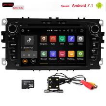 android 7.1 car audio video player with gps navi system for ford focus body kit mk2 s-max 2G RAM mirror link TV BT DAB+ a/v sys