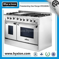 "CSA , 48"" best gas range 120v commercial gas range with grill top range"