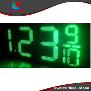 Digital display screen, outdoor usage 18 inch gas station sign with waterproof ip67