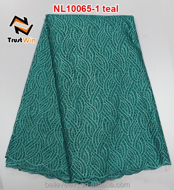 Nigerian latest style reasonable price french net lace fabric of NL10065