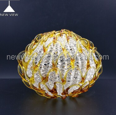 Antique/Vinatge crystal lighting glass lamp cover amber color G9 thread for hanging lamps and yable lamp Made in China