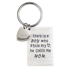 Mother's Day Gift From Son Necklace or Keychain, There Is A Boy Who Stole My Heart, He Calls Me Mom