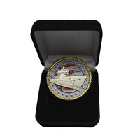Wholesale custom gold us coin with velvet coin box