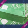 Anti fake embossing hot stamping stamped gift voucher