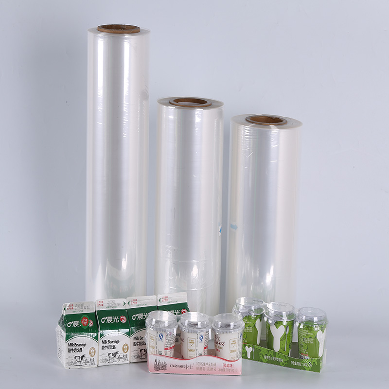 Environmental- friendly colored printing heat PET shrink wrap film for foods packaging