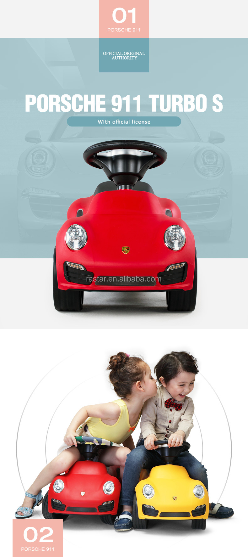 RASTAR mini baby car Porsche style foot pushing car toy ride on